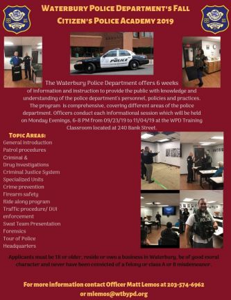Waterbury Police Department | The City of Waterbury CT